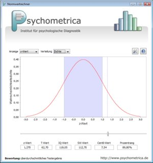 Norm-Scale-Calculator by Psychometrica